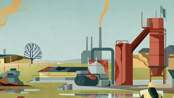 Animated Video - Factory Landscape