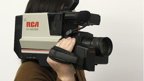 VHS Camera on Shoulder